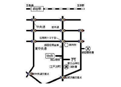シェトワ江戸浜(1DK)案内図イメージ