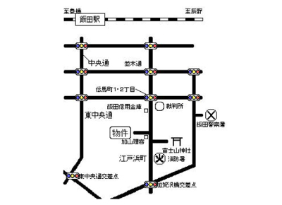 シェトワ上郷(1K)案内図イメージ
