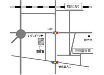 月極駐車場24案内図イメージ